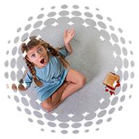 moqueta antimanchas para niños
