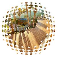 tarima de exterior de bambú
