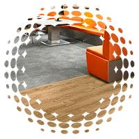 suelo vinílico imitación madera piedra metal cemento