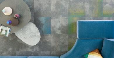 moqueta en losetas ecológica de diseño orgánico